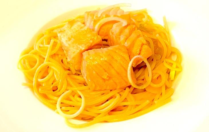 Spaghetti Salmon Citrus